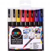 Posca - PC-3M Fine Bullet Tip - Water Based Paint Marker - 16pc Bumper Pack